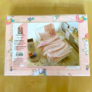 Baby Sheet Set ChapelGate 100% Cotton PinkUnicorn